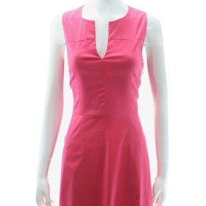 THEORY PINK SLEEVELESS COTTON BLEND DRESS SIZE 6